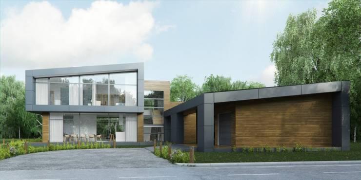 ЖИЛОЙ ДОМ В ПОС. САШИНО: Дома в . Автор – META-architects архитектурная студия