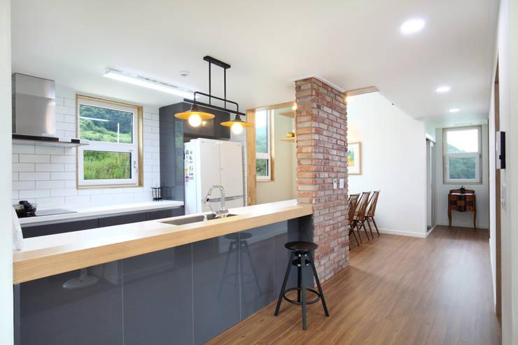 廚房 by 주택설계전문 디자인그룹 홈스타일토토