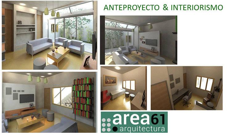 Anteproyecto: Livings de estilo  por Area61 Arquitectura