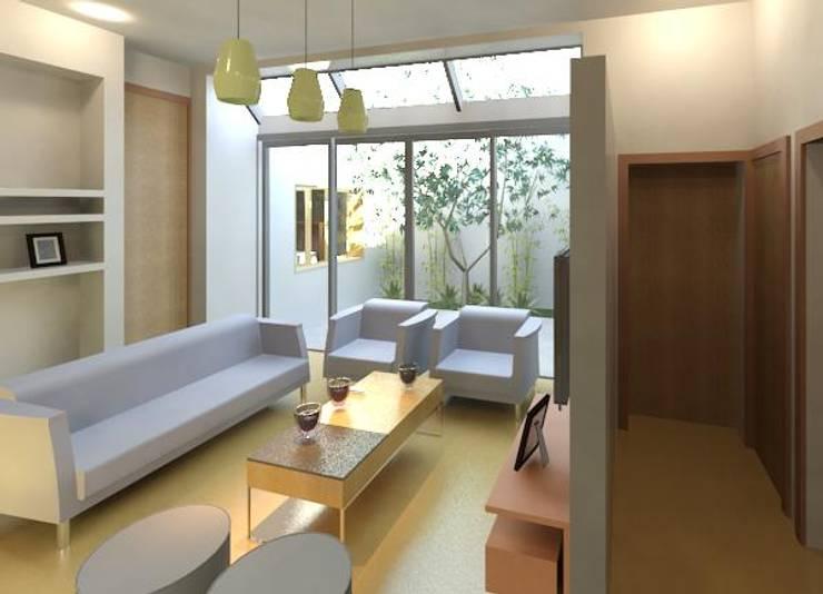 Vista desde Acceso: Livings de estilo  por Area61 Arquitectura