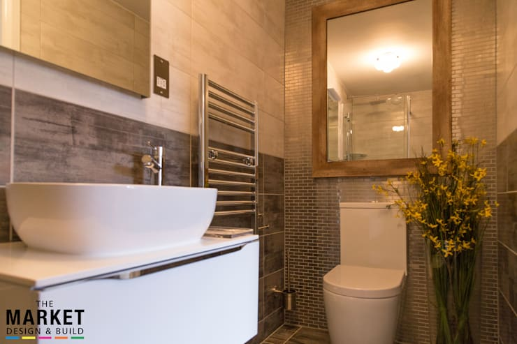 Cool & contemporary guest bathroom: modern Bathroom by The Market Design & Build