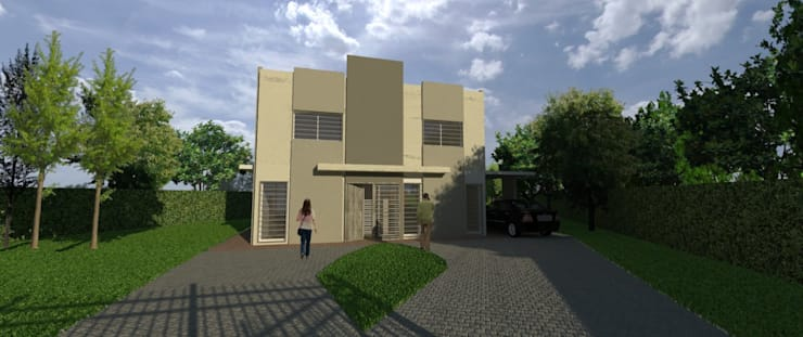 Anteproyecto Vivienda Suburbana: Casas de estilo  por Oficina de Diseño y Arquitectura