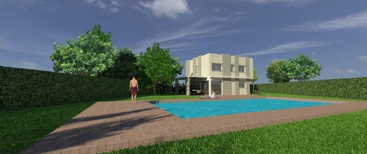 Anteproyecto Vivienda Suburbana: Jardines de estilo  por Oficina de Diseño y Arquitectura