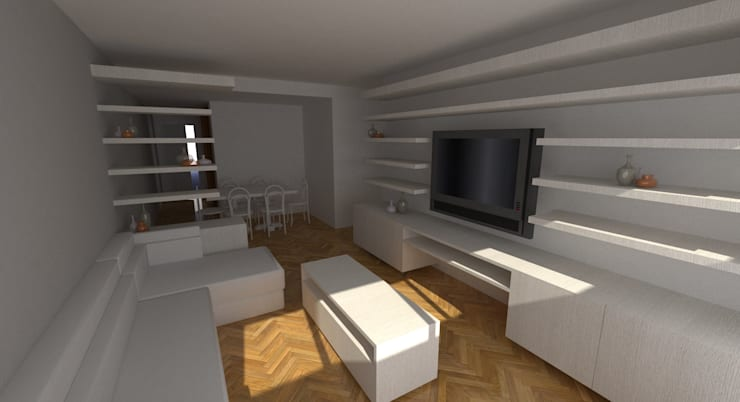 Proyecto Remodelación de Departamento: Livings de estilo  por Oficina de Diseño y Arquitectura,