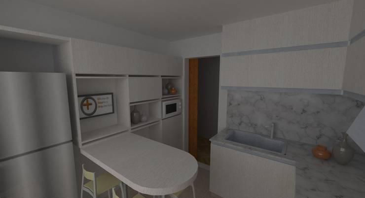 Proyecto Remodelación de Departamento: Cocinas de estilo  por Oficina de Diseño y Arquitectura,