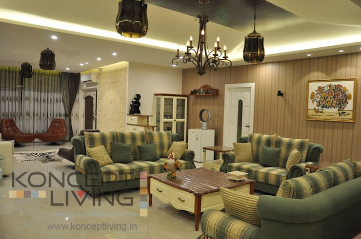 Living Room With Amazing Lights and Suitable Furniture : classic Living room by Koncept Living