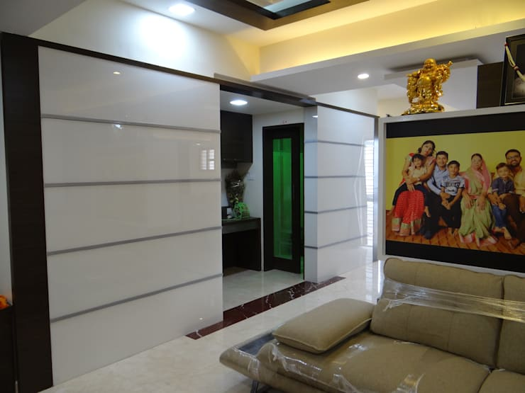Pooja Room: modern Living room by Hasta architects