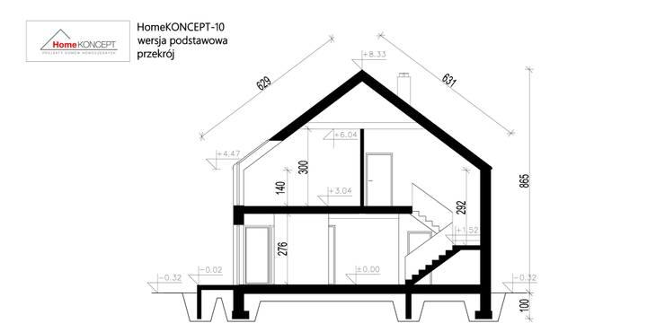 Projekt domu HomeKONCEPT-10: styl nowoczesne, w kategorii Domy zaprojektowany przez HomeKONCEPT | Projekty Domów Nowoczesnych