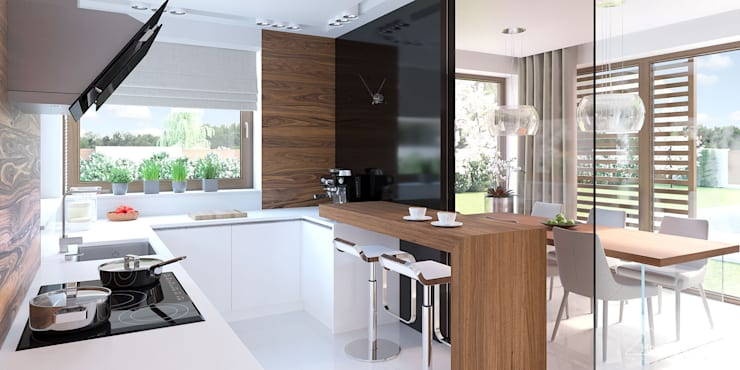廚房 by HomeKONCEPT | Projekty Domów Nowoczesnych