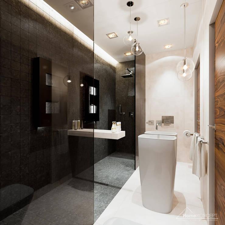 HomeKONCEPT | Projekty Domów Nowoczesnych: modern tarz Banyo