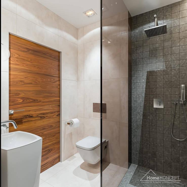 Projekt domu HomeKONCEPT-07: styl , w kategorii Łazienka zaprojektowany przez HomeKONCEPT | Projekty Domów Nowoczesnych
