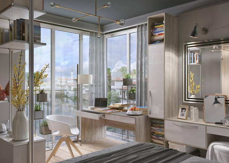 Dormitorios de estilo industrial de Дмитрий Каючкин Industrial