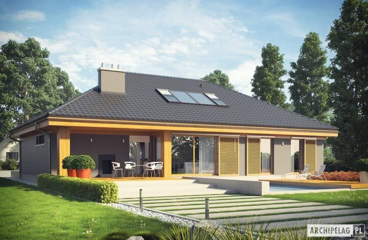 Projekt Gabriel G1 ENERGO - nowoczesny dom z możliwością rozbudowy : styl , w kategorii Domy zaprojektowany przez Pracownia Projektowa ARCHIPELAG