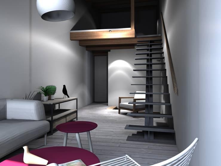 ห้องนั่งเล่น by Claire de Bodinat / Archidesign