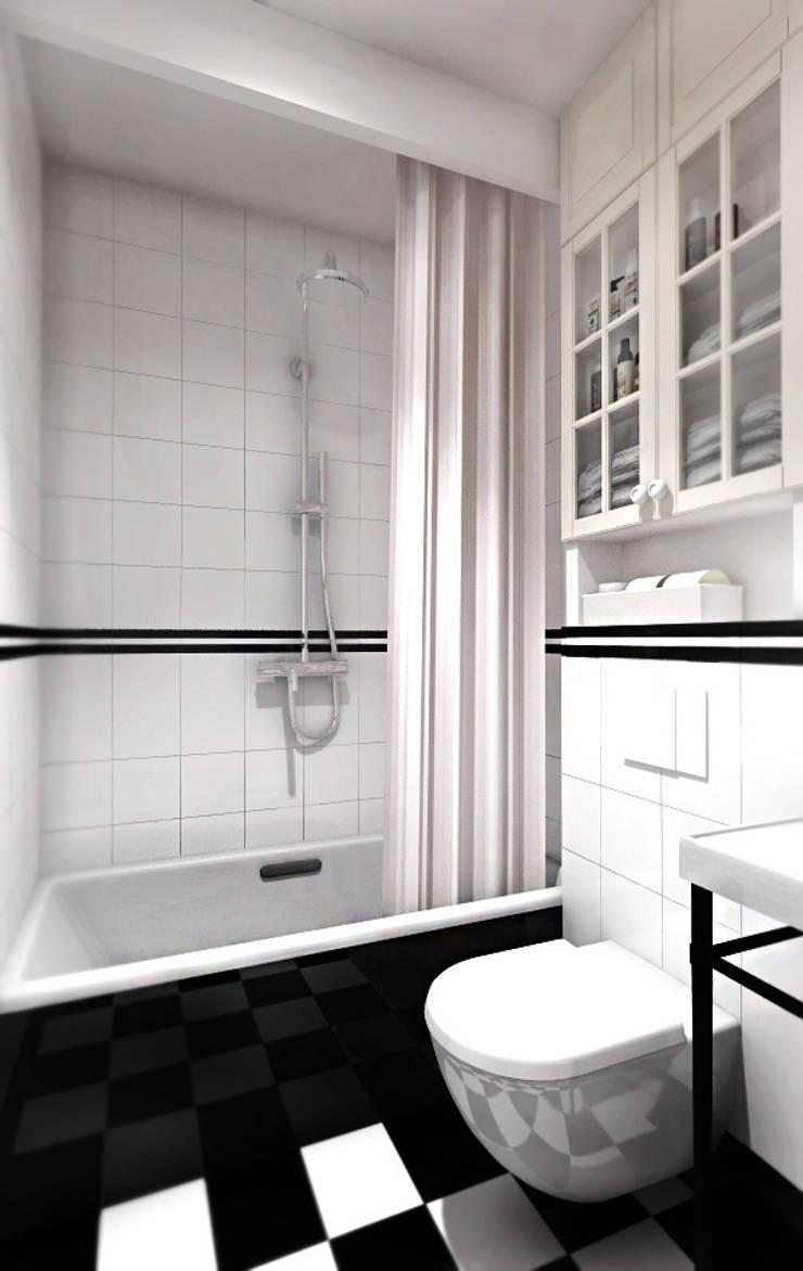 Kawalerka 18 m2: styl , w kategorii Łazienka zaprojektowany przez ZAZA studio