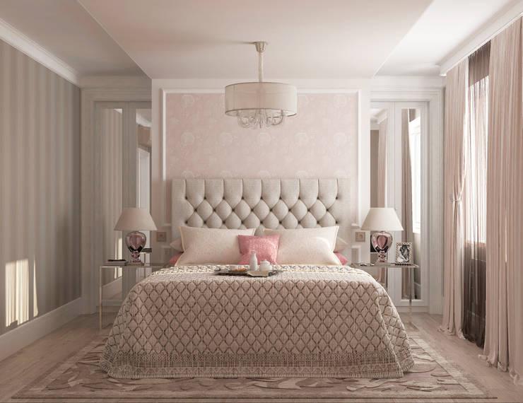 """Спальня гостевая """"Glamour"""": Спальни в . Автор – Студия дизайна Дарьи Одарюк"""