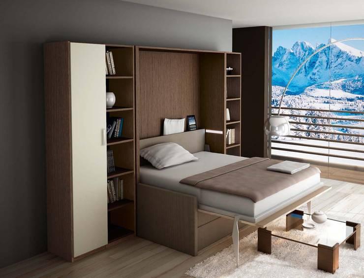 46 letti salvaspazio e a scomparsa idee per camera da letto - Mobili letto salvaspazio ...