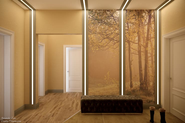 Corridor & hallway by Студия интерьерного дизайна happy.design