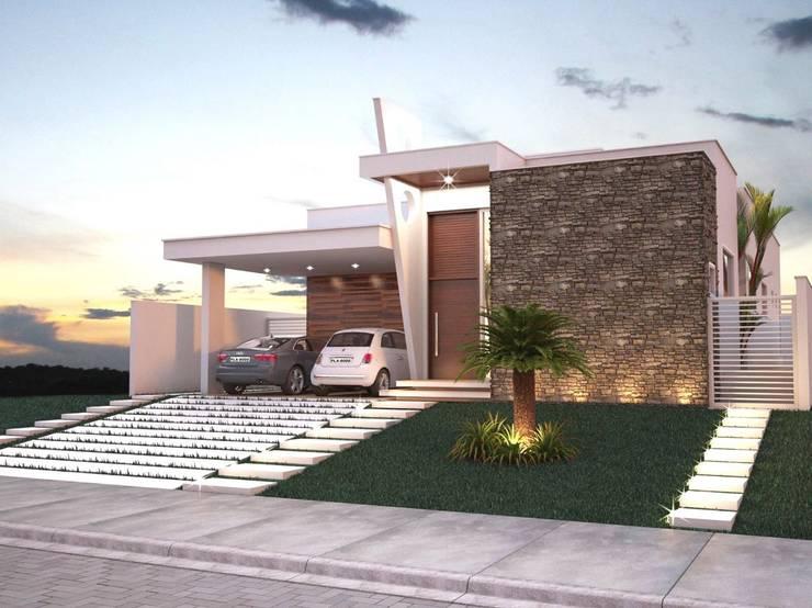 Casas de estilo moderno por Jorge Martins Arquitetura