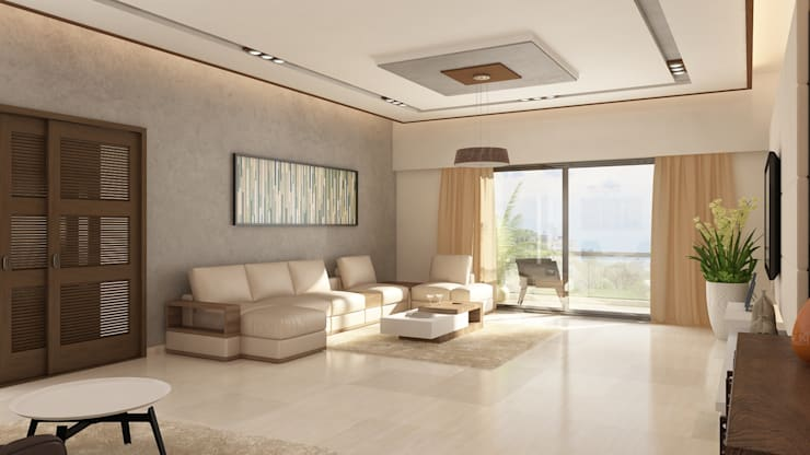 Living Room Seating:   by Ghar360