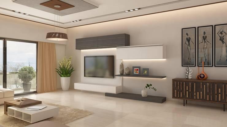 TV unit:   by Ghar360