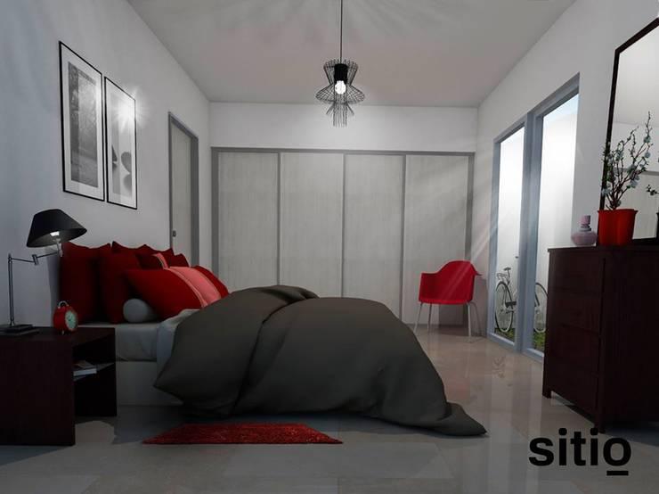 s i t i o / soporte visual / Inmobiliaria Ciudad de Cordoba: Dormitorios de estilo  por Sitio