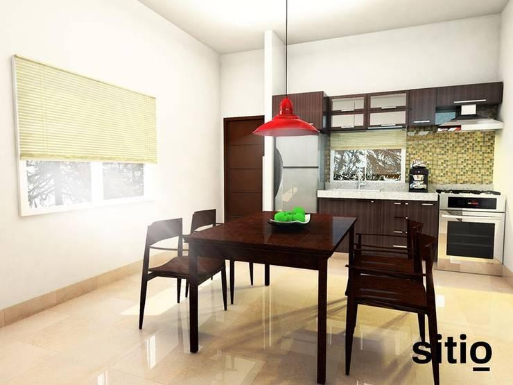 s i t i o / soporte visual / Edificio LM Const. La Mansión: Comedores de estilo  por Sitio