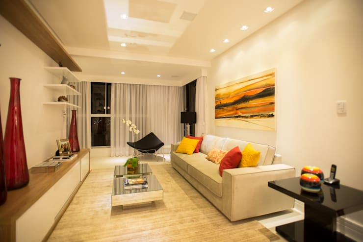 Salas / recibidores de estilo  por L2 Arquitetura