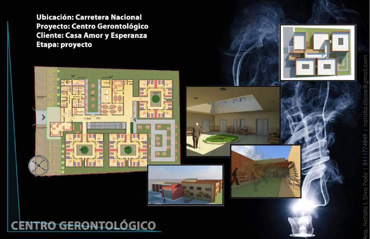 Centro Gerontológico: Recámaras de estilo  por NUMERO SEIS