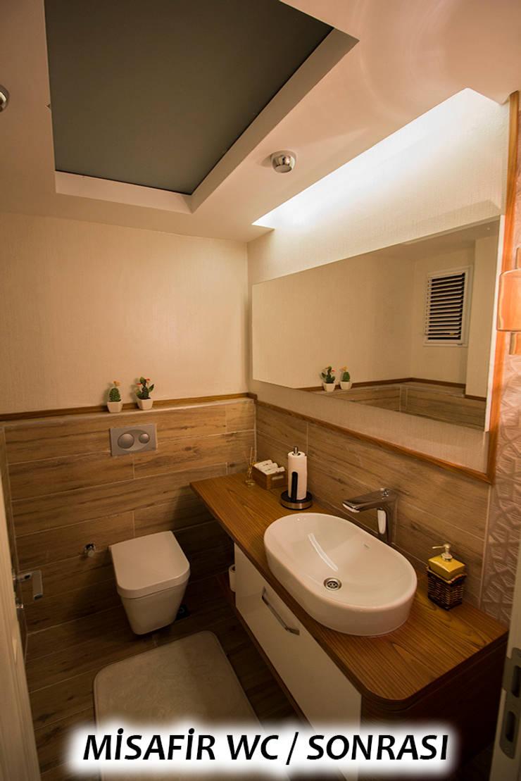 Teknik Sanat İç Mimarlık Renovasyon Ltd. Şti. – Misafir Wc - Sonrası: modern tarz , Modern