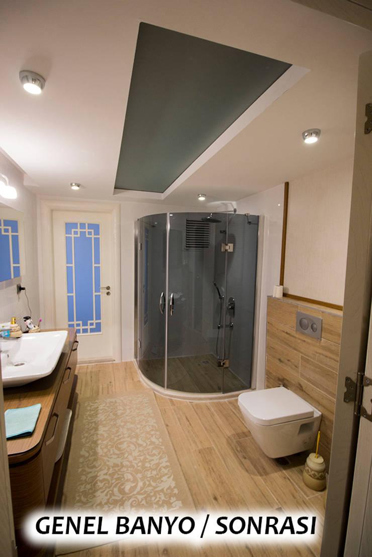 Teknik Sanat İç Mimarlık Renovasyon Ltd. Şti. – Genel Banyo - Sonrası : modern tarz , Modern