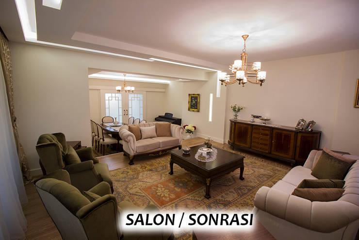 Teknik Sanat İç Mimarlık Renovasyon Ltd. Şti. – Salon - Sonrası : modern tarz , Modern