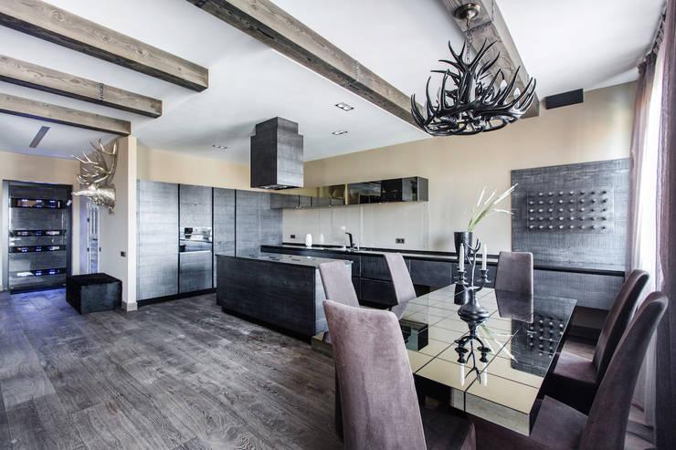 Квартира в стиле Современное шале: Кухни в . Автор – Дизайн Мира