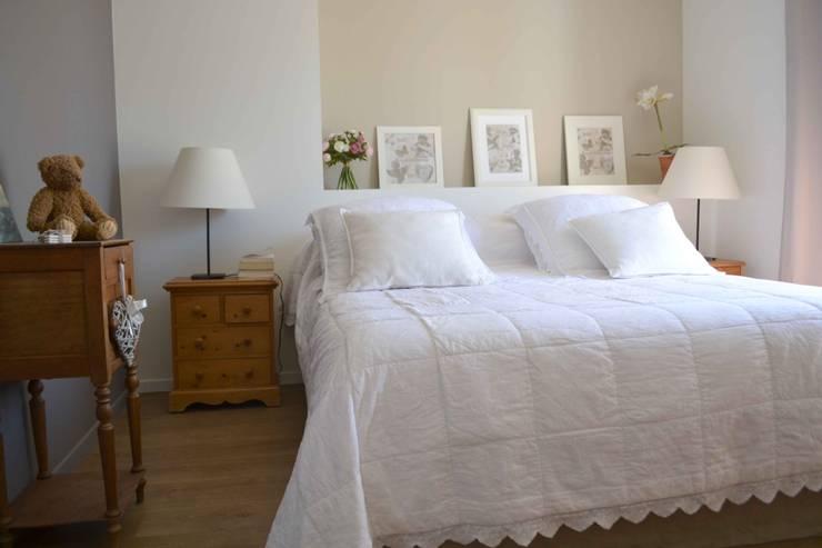 Projekty,  Sypialnia zaprojektowane przez Courants Libres