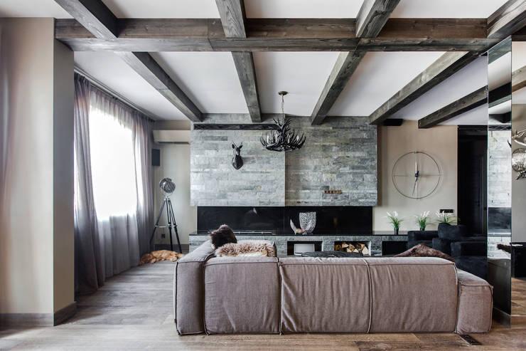Livings de estilo  por Дизайн Мира
