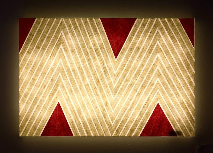 멋스러운 패턴 포인트 조명: Min_D (민디)의  복도 & 현관