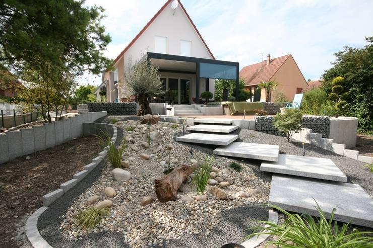 Escaliers Jardin moderne par Schwein Aménagement Moderne