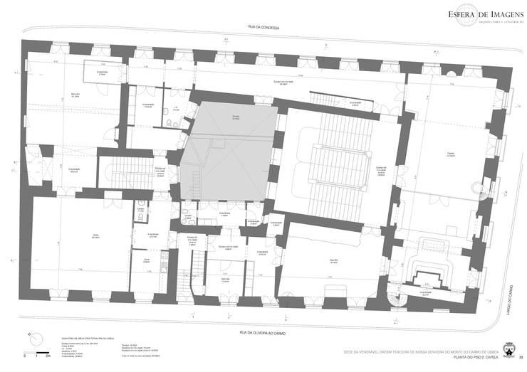 Levantamento Arquitectónico do edifício-sede da venerável Ordem Terceira do Carmo de Lisboa — em Largo Do Carmo. Lisboa.:   por Esfera de Imagens Lda