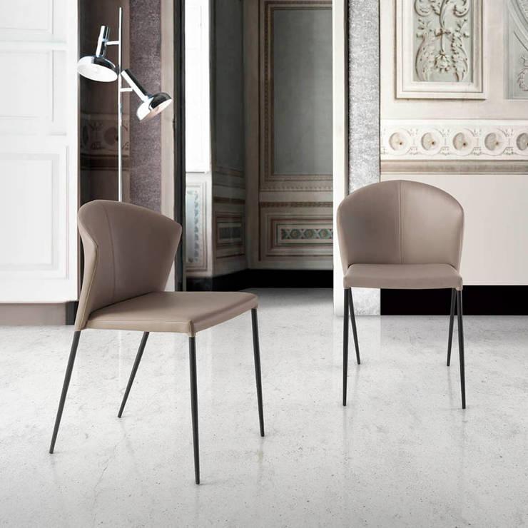 Cadeiras modernas Modern Chairs www.intense-mobiliario.com  CREVEN : Sala de jantar  por Intense mobiliário e interiores;