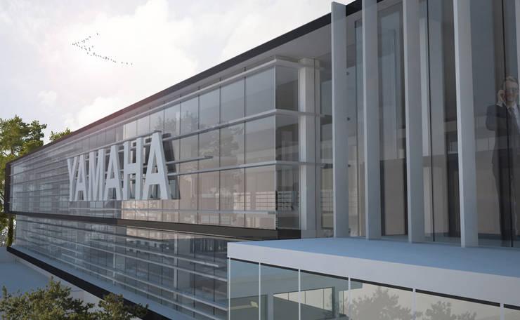 Tienda Yamaha Insurgentes : Estudios y oficinas de estilo  por Arquitectos M253