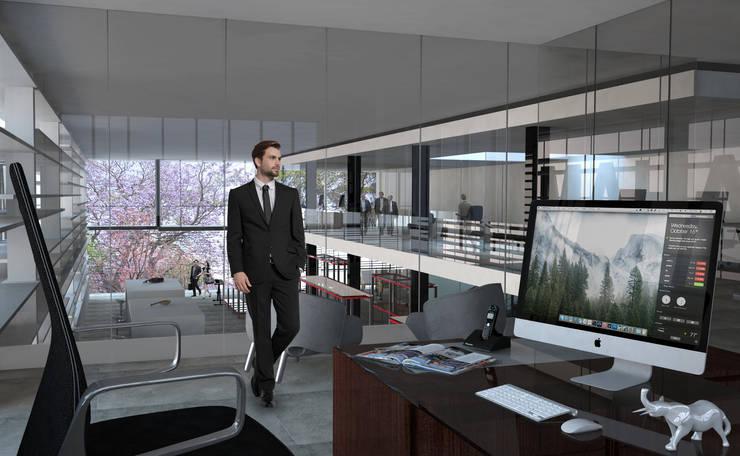 Interior de la tienda : Estudios y oficinas de estilo  por Arquitectos M253