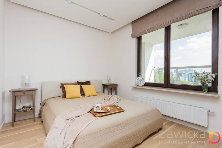 modern Bedroom by ZAWICKA-ID Projektowanie wnętrz