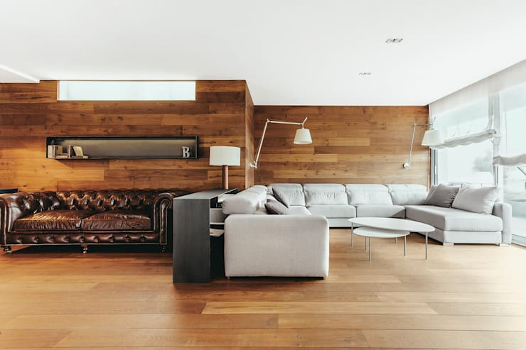 Living room by dom arquitectura, Modern