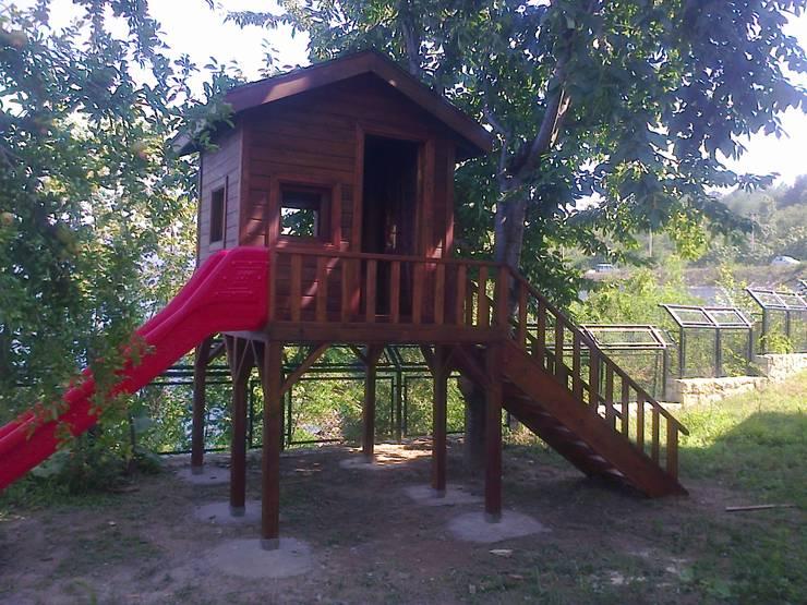 Gürsoy Kerestecilik – Ahşap Çocuk Oyun Evi: modern tarz , Modern Ahşap Ahşap rengi