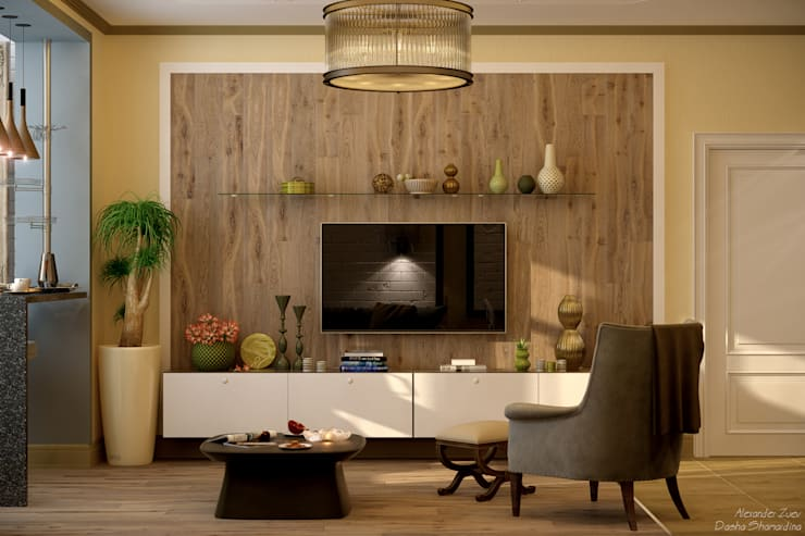 Living room by Студия интерьерного дизайна happy.design