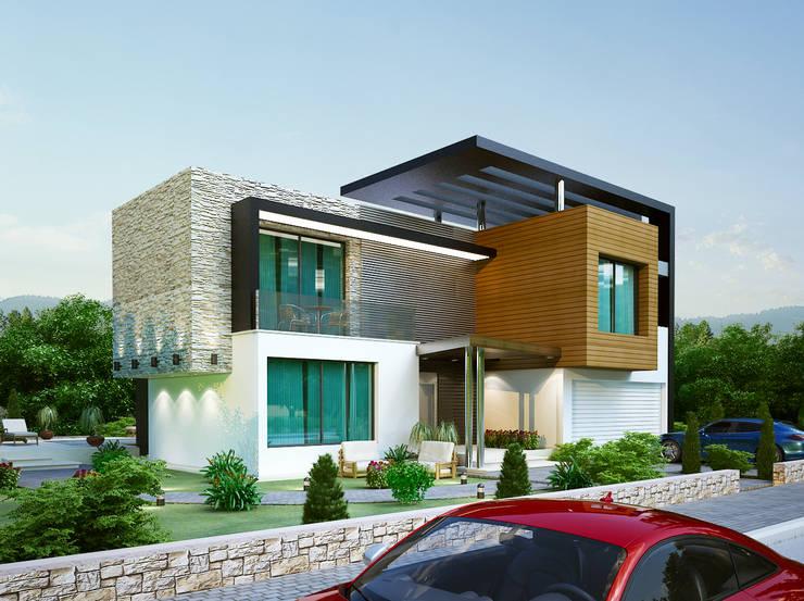 Benid Mimarlık Bürosu – Bellapais Modern Villa:  tarz Evler, Modern