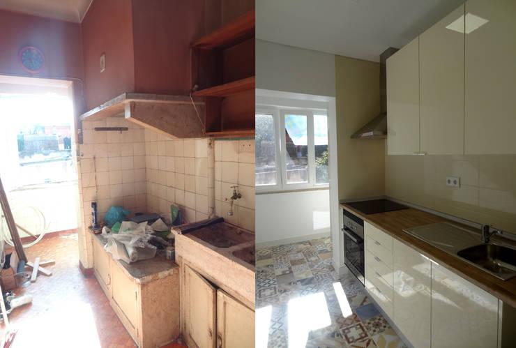 Cuisine de style  par Happy Ideas At Home - Arquitetura e Remodelação de Interiores