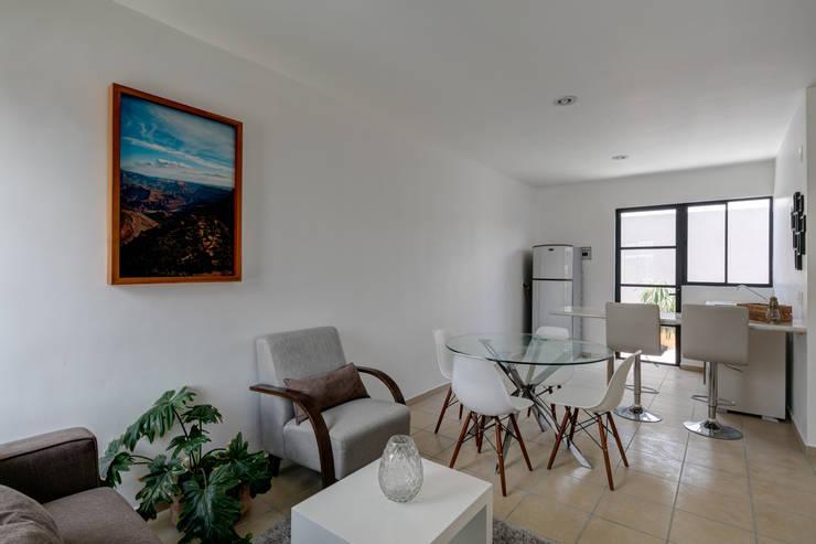 Viviendas San Ignacio: Salas de estilo  por IX2 arquitectura