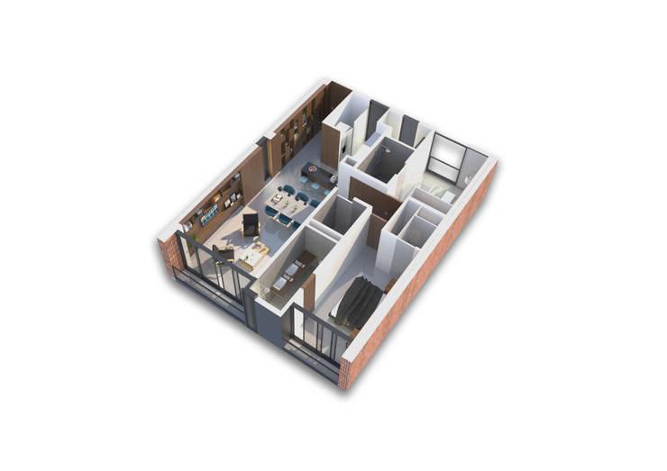 Multifamiliar EC2956:  de estilo  por IX2 arquitectura