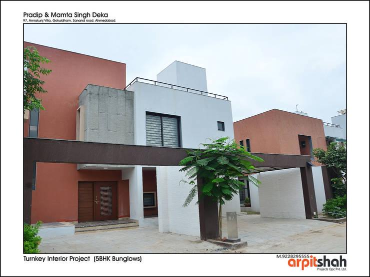 Pradipbhai Deka @ Gokuldham: modern  by ARPIT SHAH PROJECTS OPC PVT LTD.,Modern